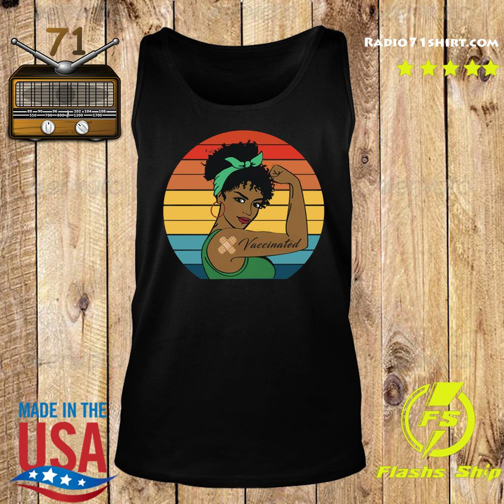 Black Strong Girl With Vaccinated Vintage Retro Shirt Tank top