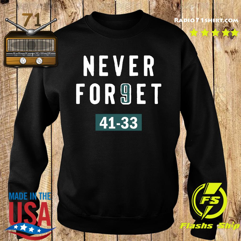 Clearwooder Never Forget Nick Foles 9 Philadelphia Shirt Sweater