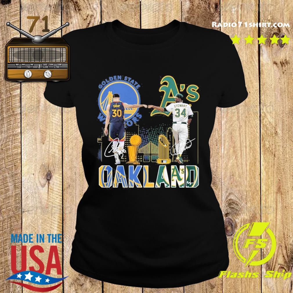 Curry Golden State Warriors and Stewart Oakland Athletics Oakland signatures s Ladies tee