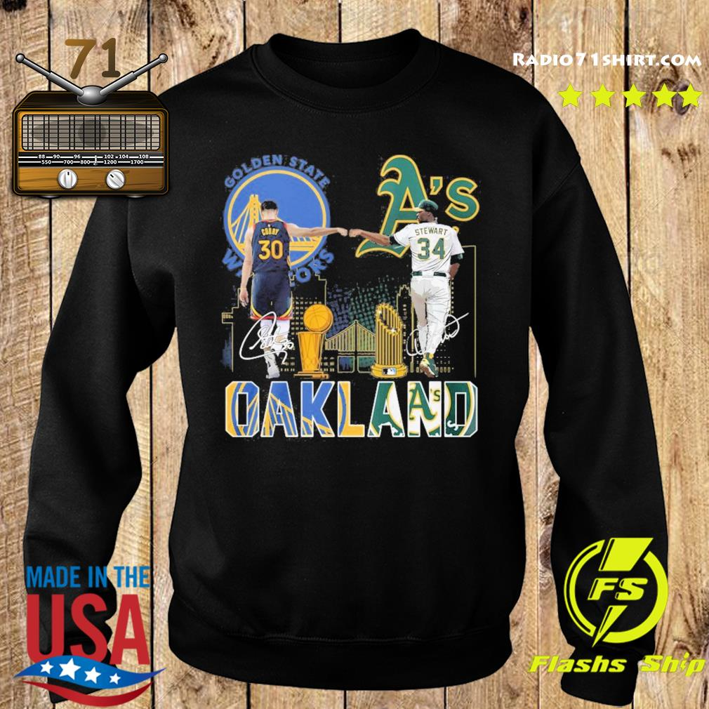 Curry Golden State Warriors and Stewart Oakland Athletics Oakland signatures s Sweater