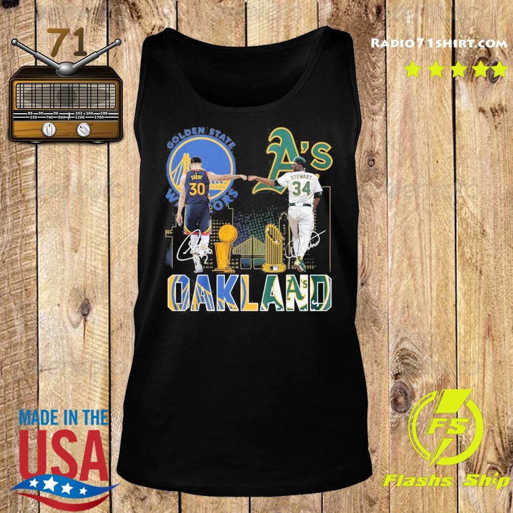 Curry Golden State Warriors and Stewart Oakland Athletics Oakland signatures s Tank top
