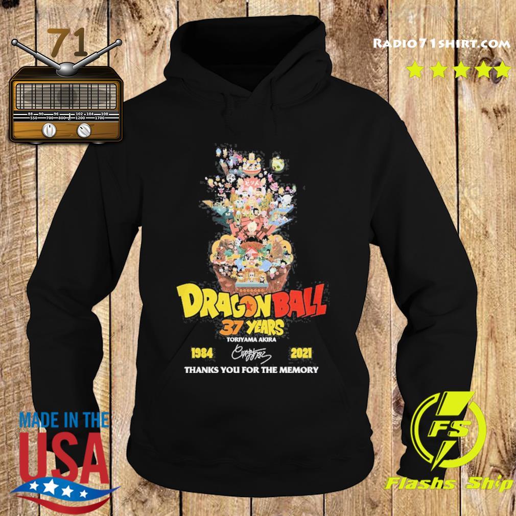 Dragon Ball 37 years Toriyama Akira 1984 2021 signature thanks you for the memories s Hoodie