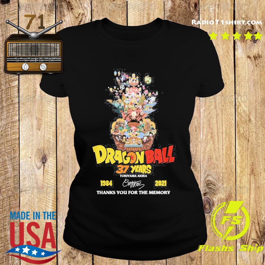 Dragon Ball 37 years Toriyama Akira 1984 2021 signature thanks you for the memories s Ladies tee