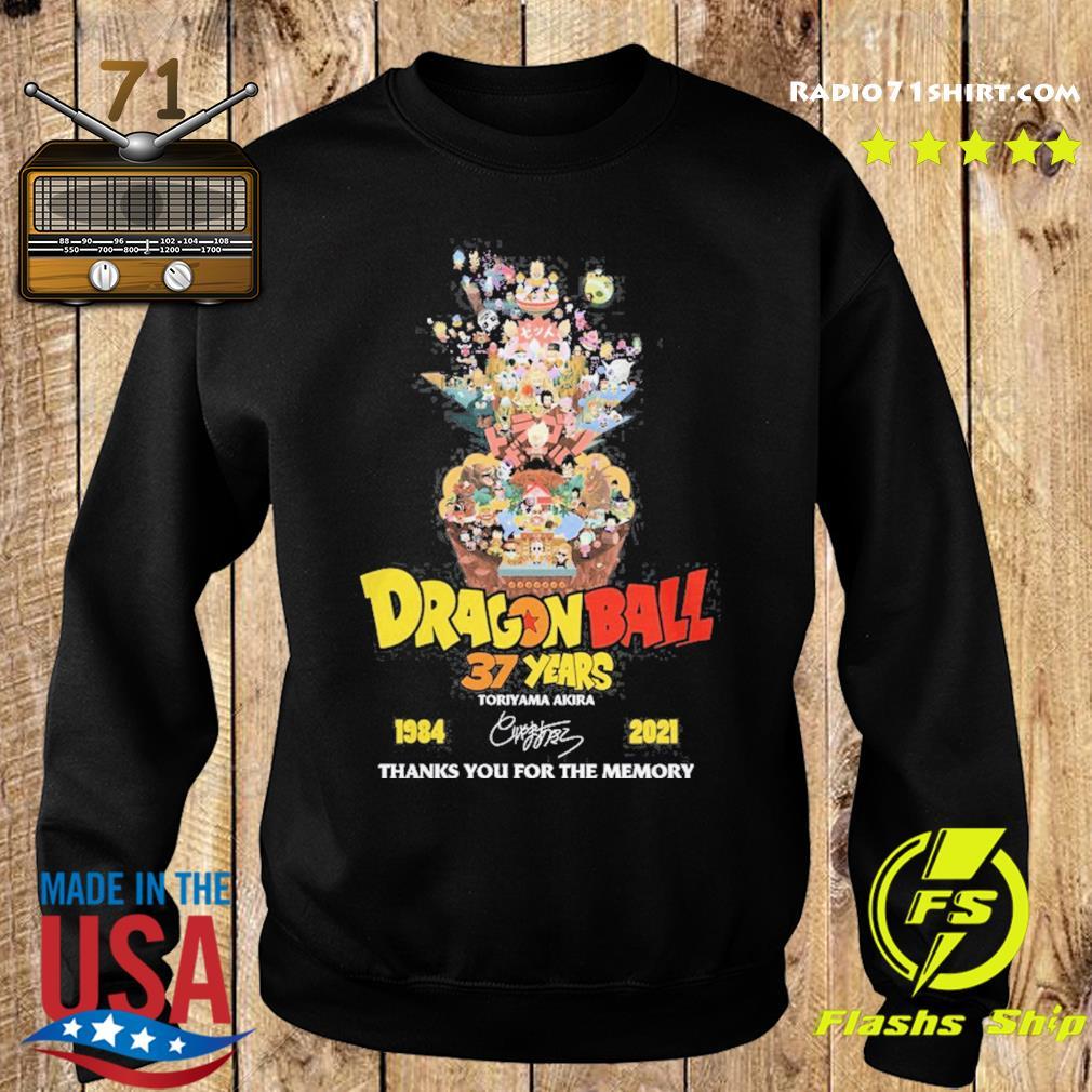 Dragon Ball 37 years Toriyama Akira 1984 2021 signature thanks you for the memories s Sweater