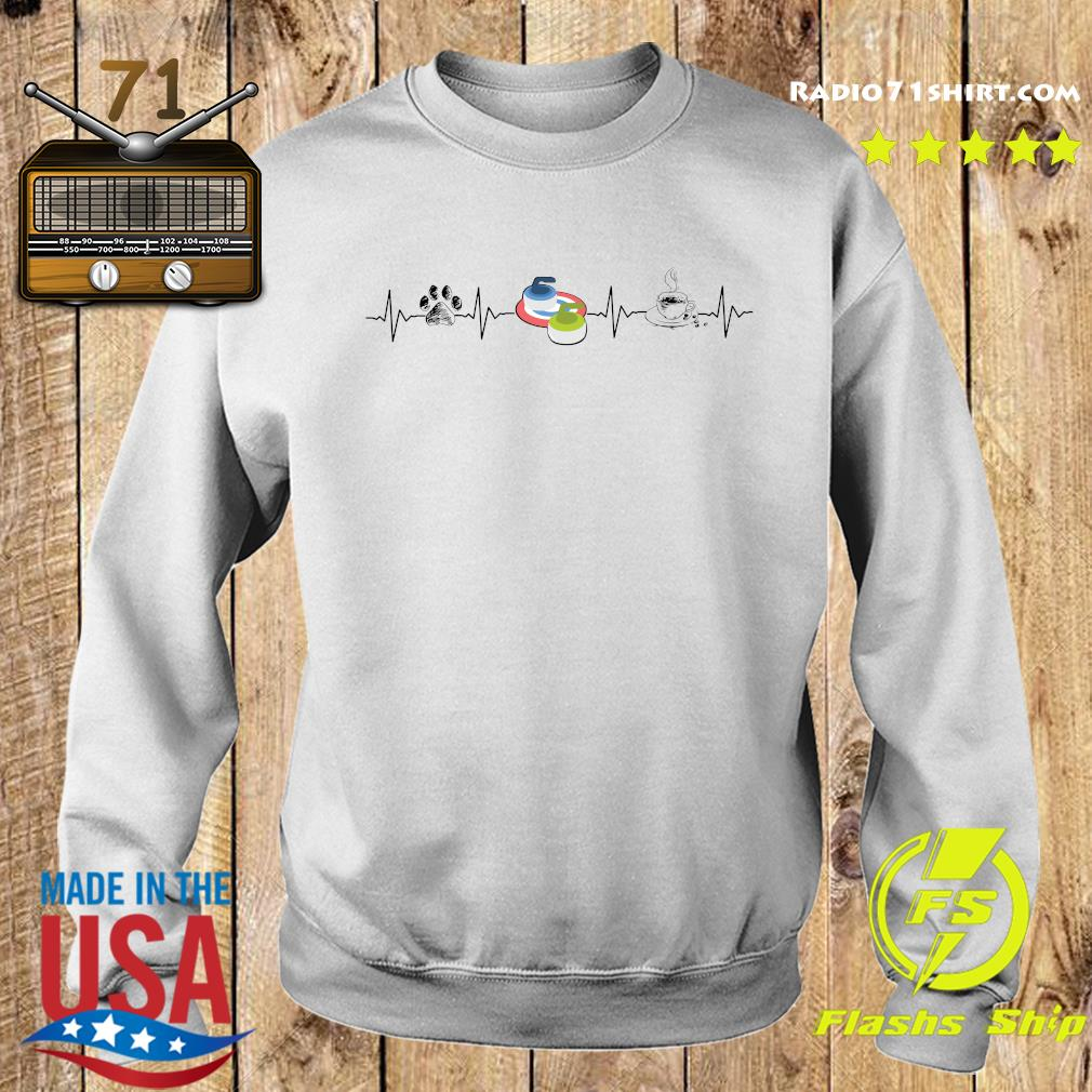 Heartbeat Dog Curling And Coffee Shirt Sweater