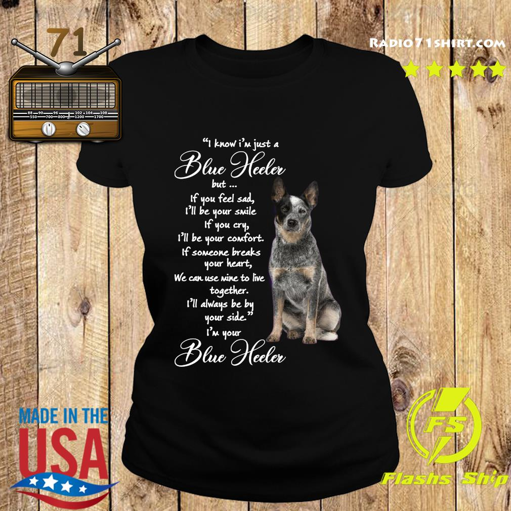 I Know I'm Just A Blue Heeler But If You Feel Sad Shirt Ladies tee