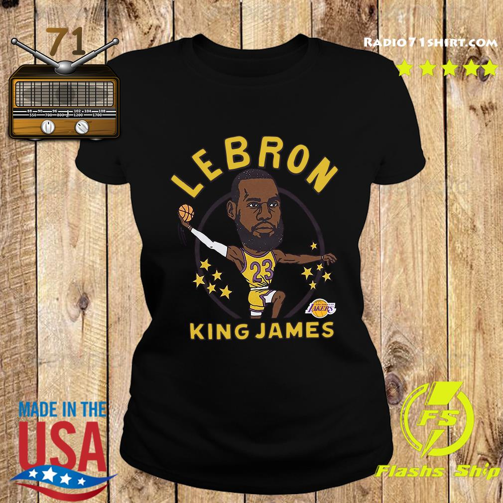 LeBron James King James Caricature Shirt Ladies tee