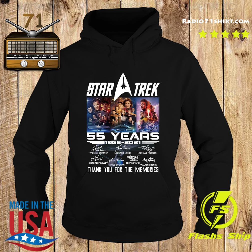 Marvel Star Trek Movie 55 Years 1966 2021 Signatures Thanks For The Memories Shirt Hoodie