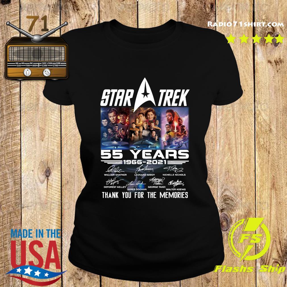 Marvel Star Trek Movie 55 Years 1966 2021 Signatures Thanks For The Memories Shirt Ladies tee