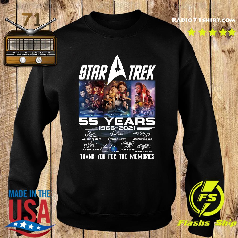 Marvel Star Trek Movie 55 Years 1966 2021 Signatures Thanks For The Memories Shirt Sweater