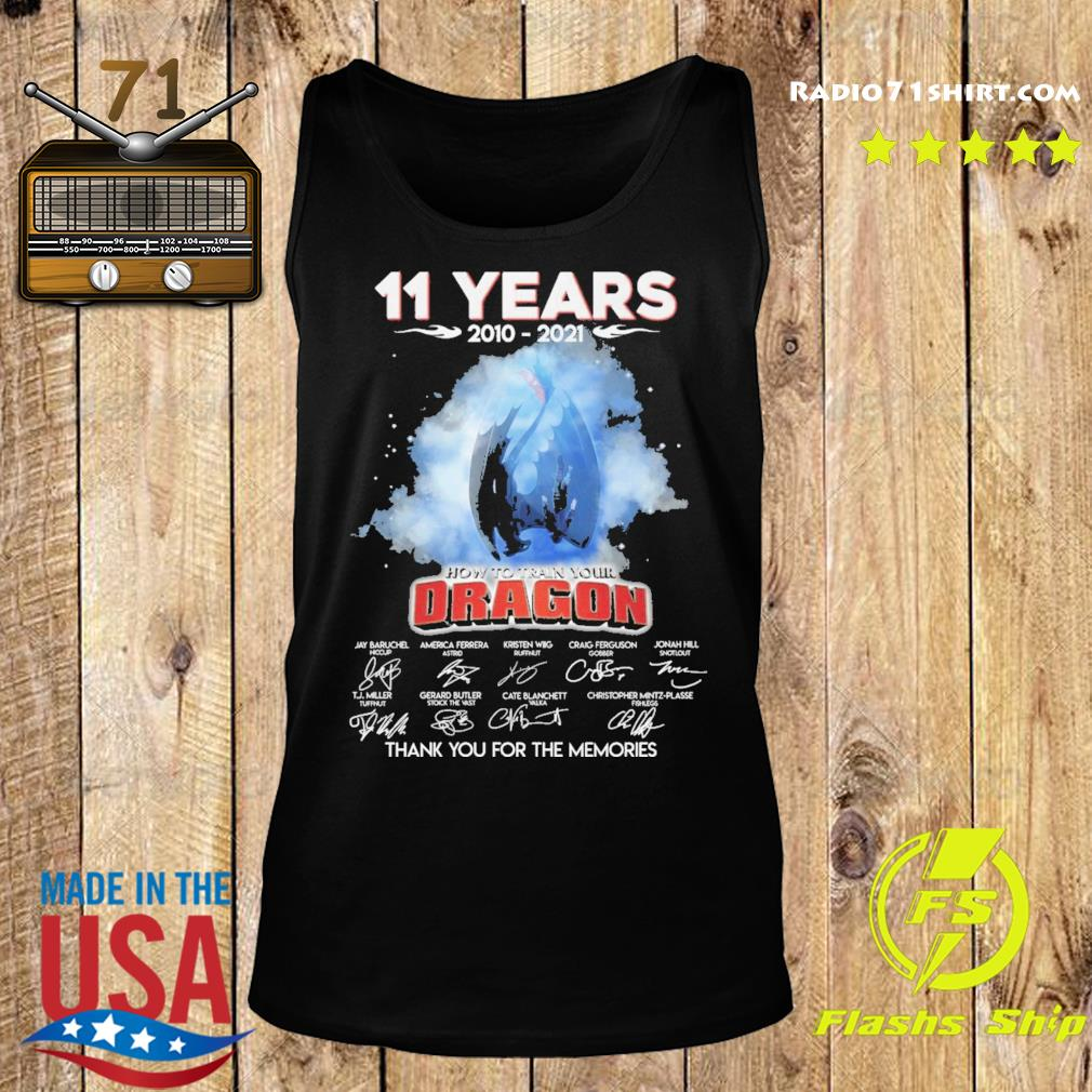 Official 11 Years 2010 2021 How To train your Dragon signature thank you for the memories s Tank top