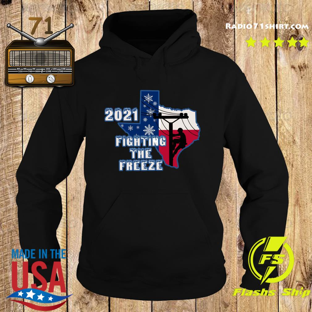 Official 2021 Fighting The Freeze Texas Strong Shirt Hoodie