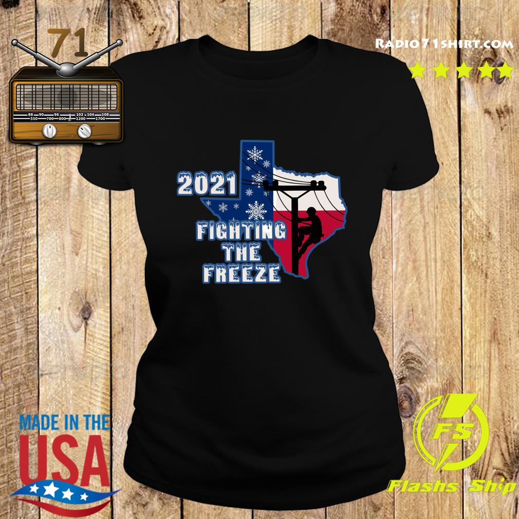 Official 2021 Fighting The Freeze Texas Strong Shirt Ladies tee