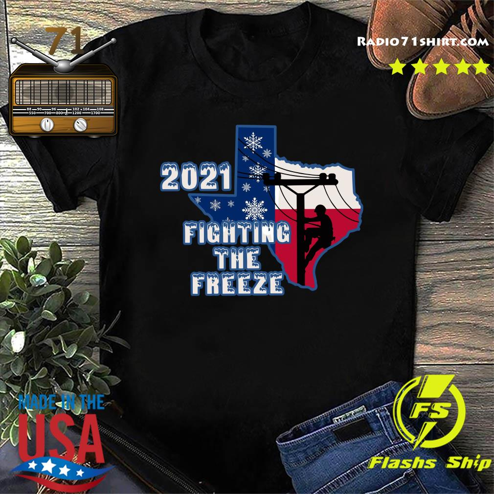 Official 2021 Fighting The Freeze Texas Strong Shirt