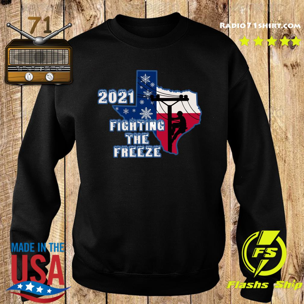 Official 2021 Fighting The Freeze Texas Strong Shirt Sweater