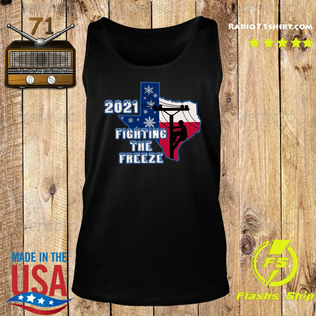 Official 2021 Fighting The Freeze Texas Strong Shirt Tank top