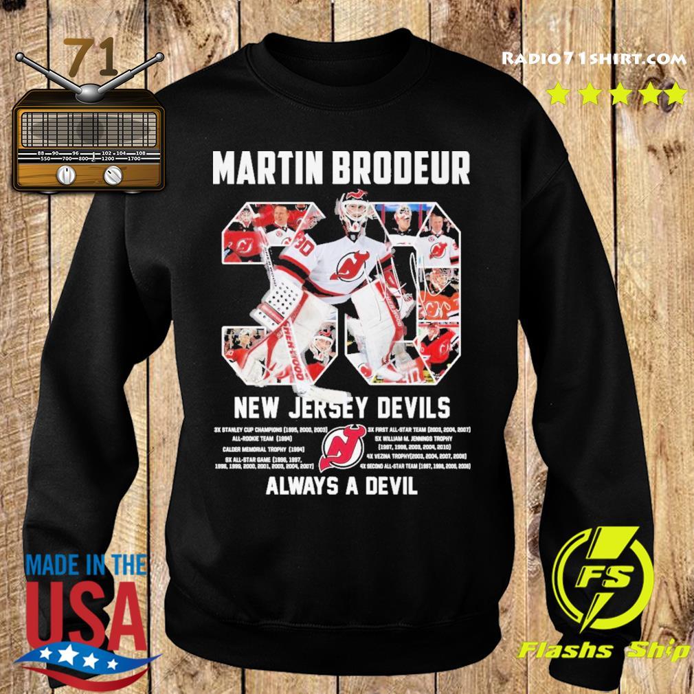 Official 30 Martin Brodeur New Jersey Devils Always a devil s Sweater