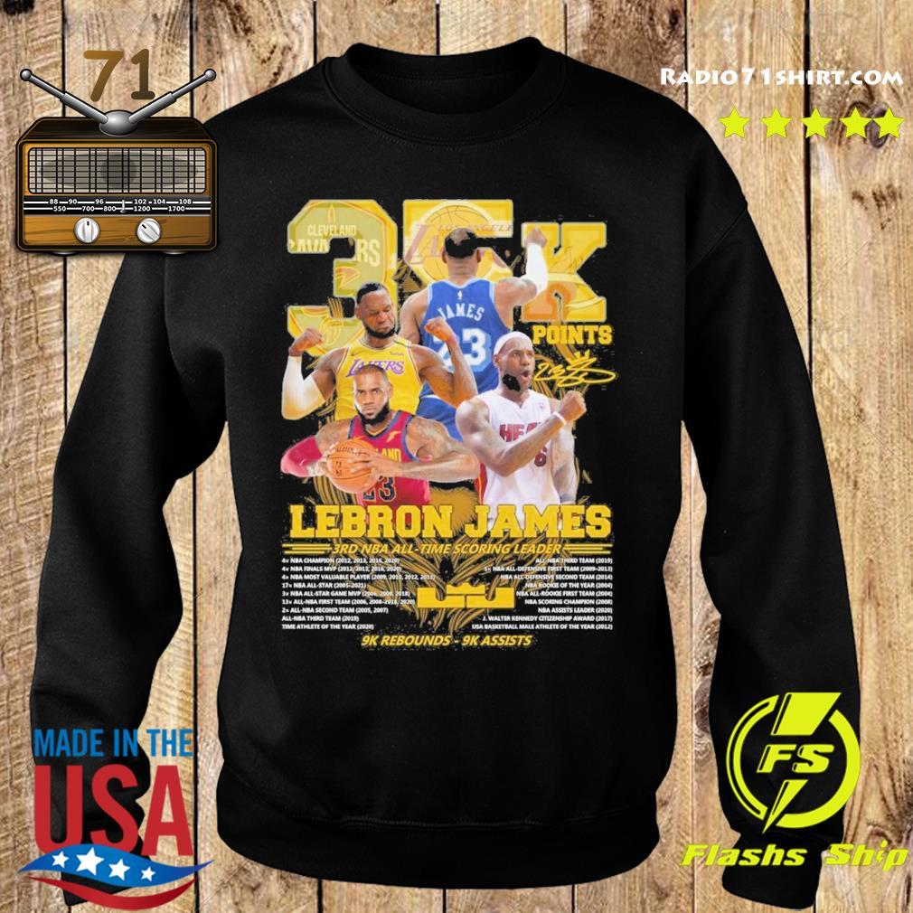 Official 35k Lebron James 3rd NBA time scoring leader 9k Rebounds 9k assists s Sweater
