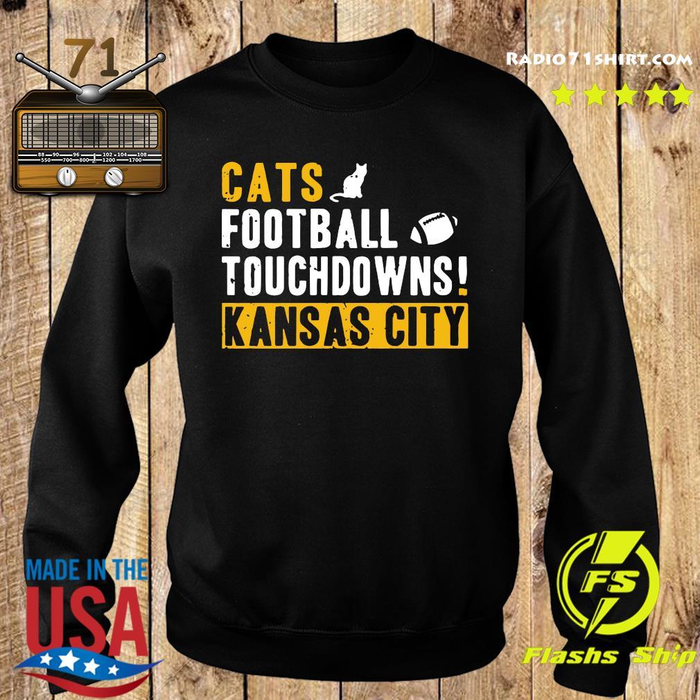 Official Cats Football Touchdowns Kansas City Shirt Sweater