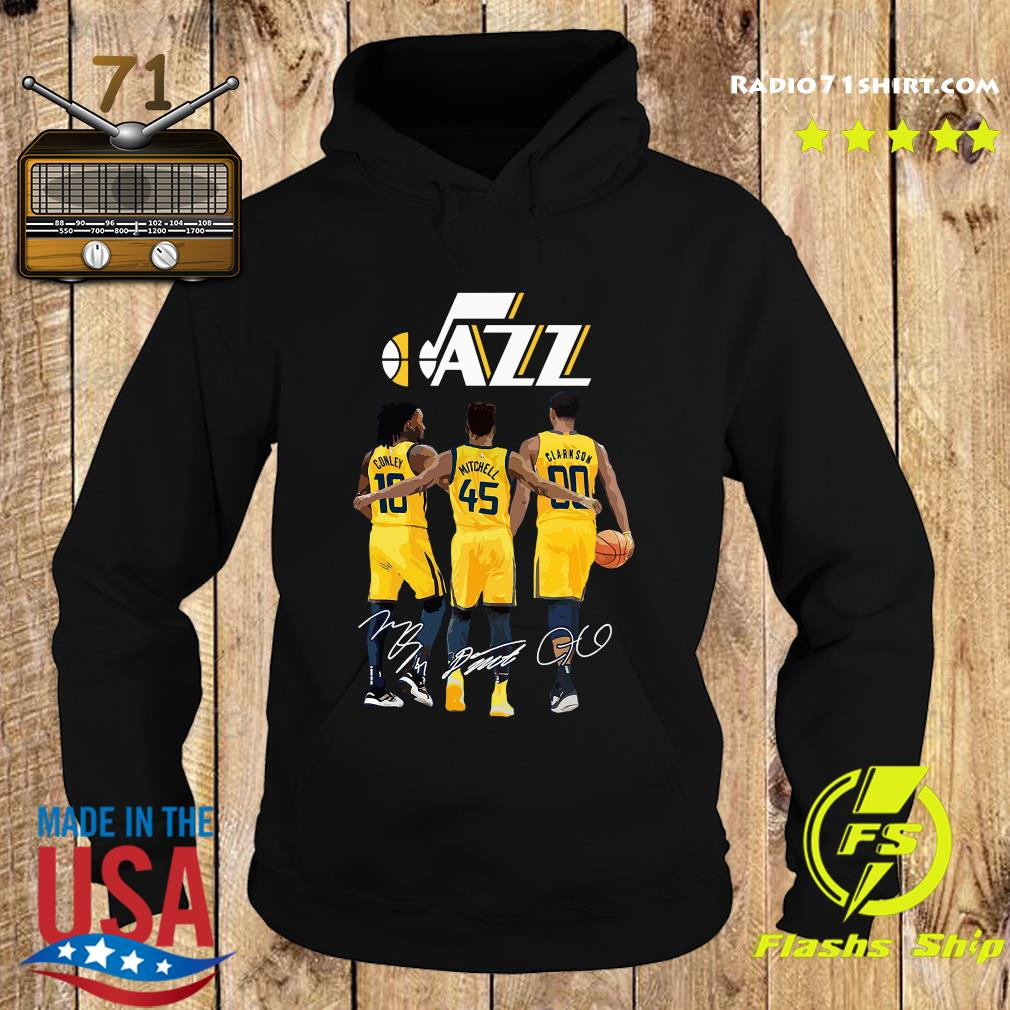 Official Jazz 10 Conley 45 Mitchell 00 Clarkson Siganatures Shirt Hoodie