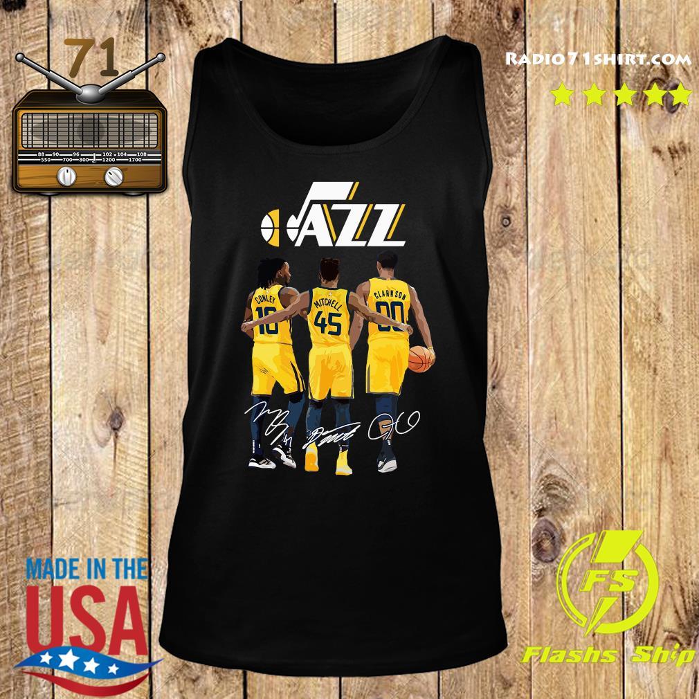 Official Jazz 10 Conley 45 Mitchell 00 Clarkson Siganatures Shirt Tank top