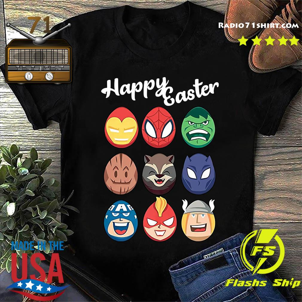 Official Marvel Avengers Eggs Happy Easter shirt