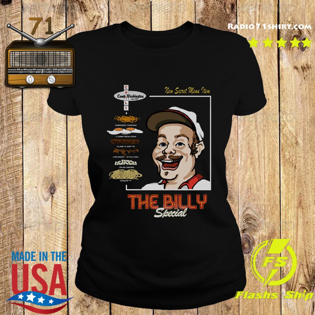 Official The Billy Special Camp Washington Chili Shirt Ladies tee