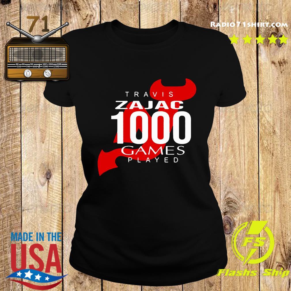 Official Travis Zajac 1000 Game Played Shirt Ladies tee