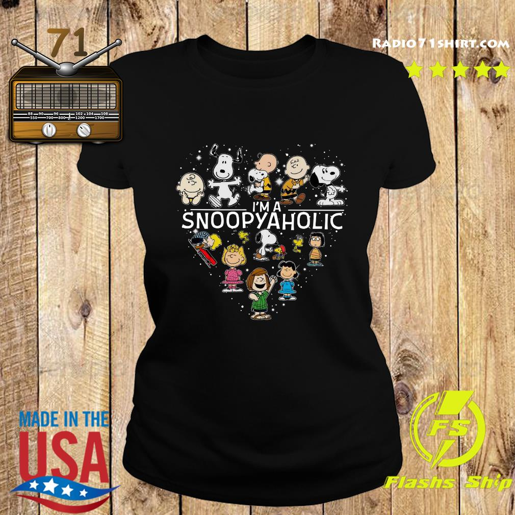 Snoopy And Friends I'm A Snoopyaholic Heart Shirt Ladies tee