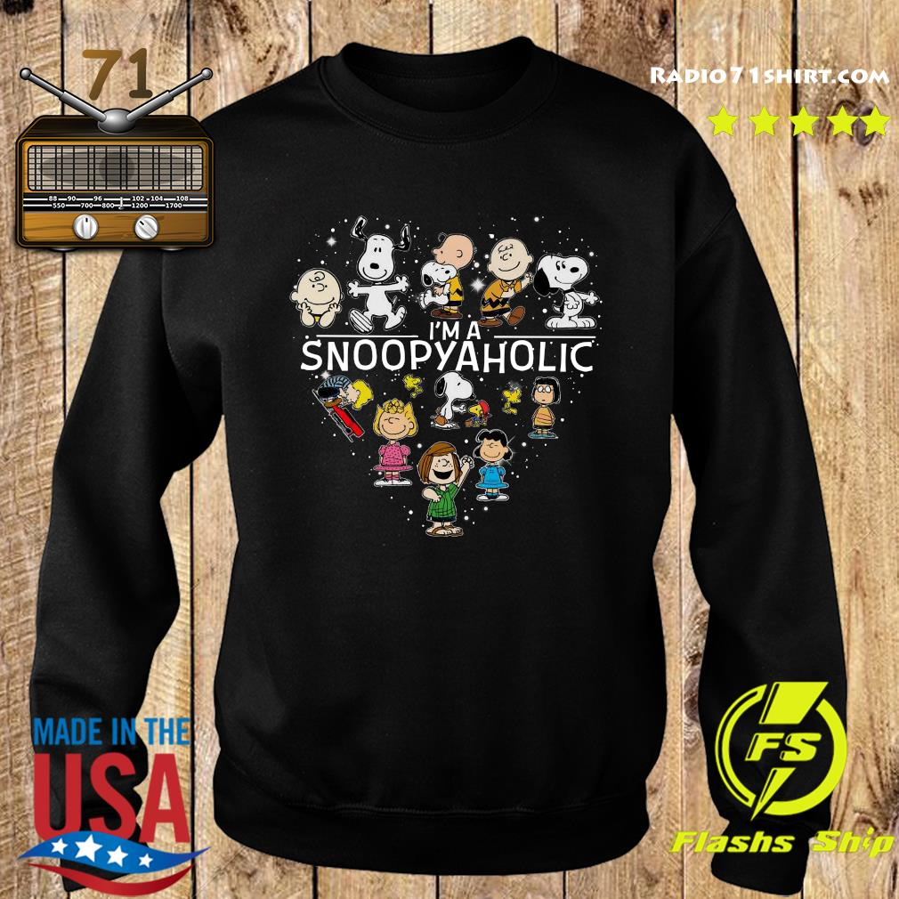 Snoopy And Friends I'm A Snoopyaholic Heart Shirt Sweater