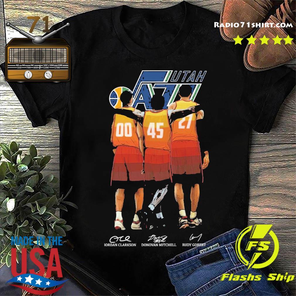 Utah Jazz Clarkson and Mitchell and Gobert signatures shirt