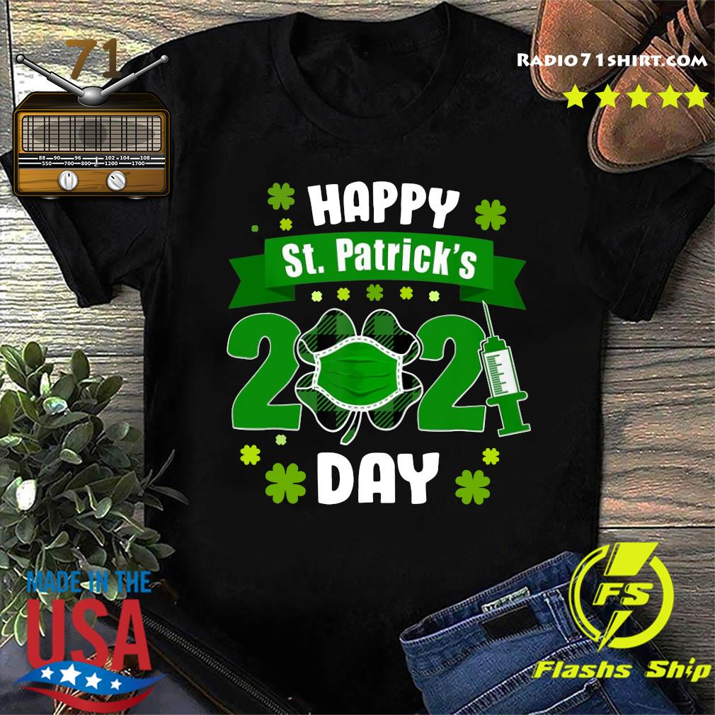 Happy St Patrick's Day 2021 Face Mask With Covid-19 Shirt