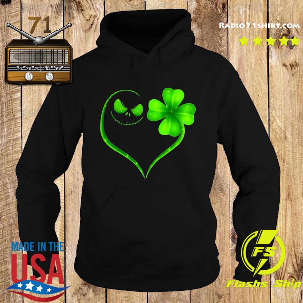 Heart Shamrock And Jack Skeleton Happy St Patrick's Day Shirt Hoodie