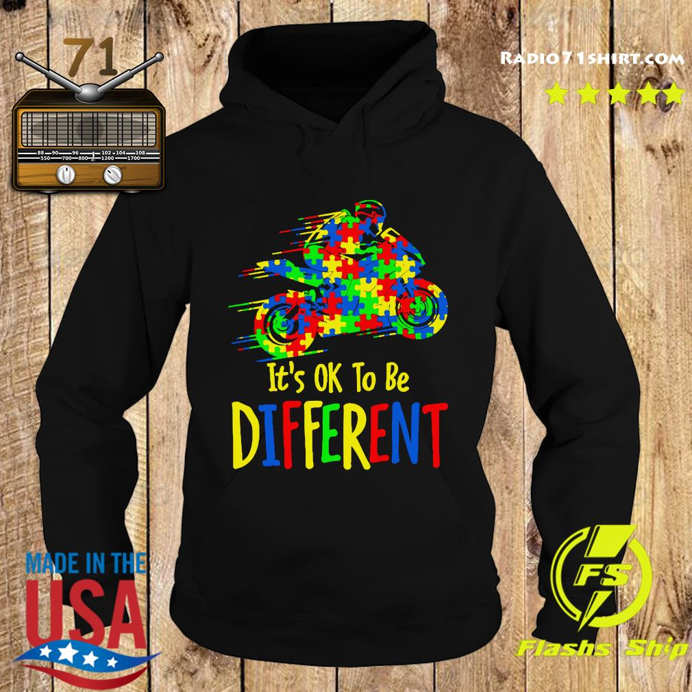 Motorcycle Autism Awareness It's Ok To Be Different Shirt Hoodie