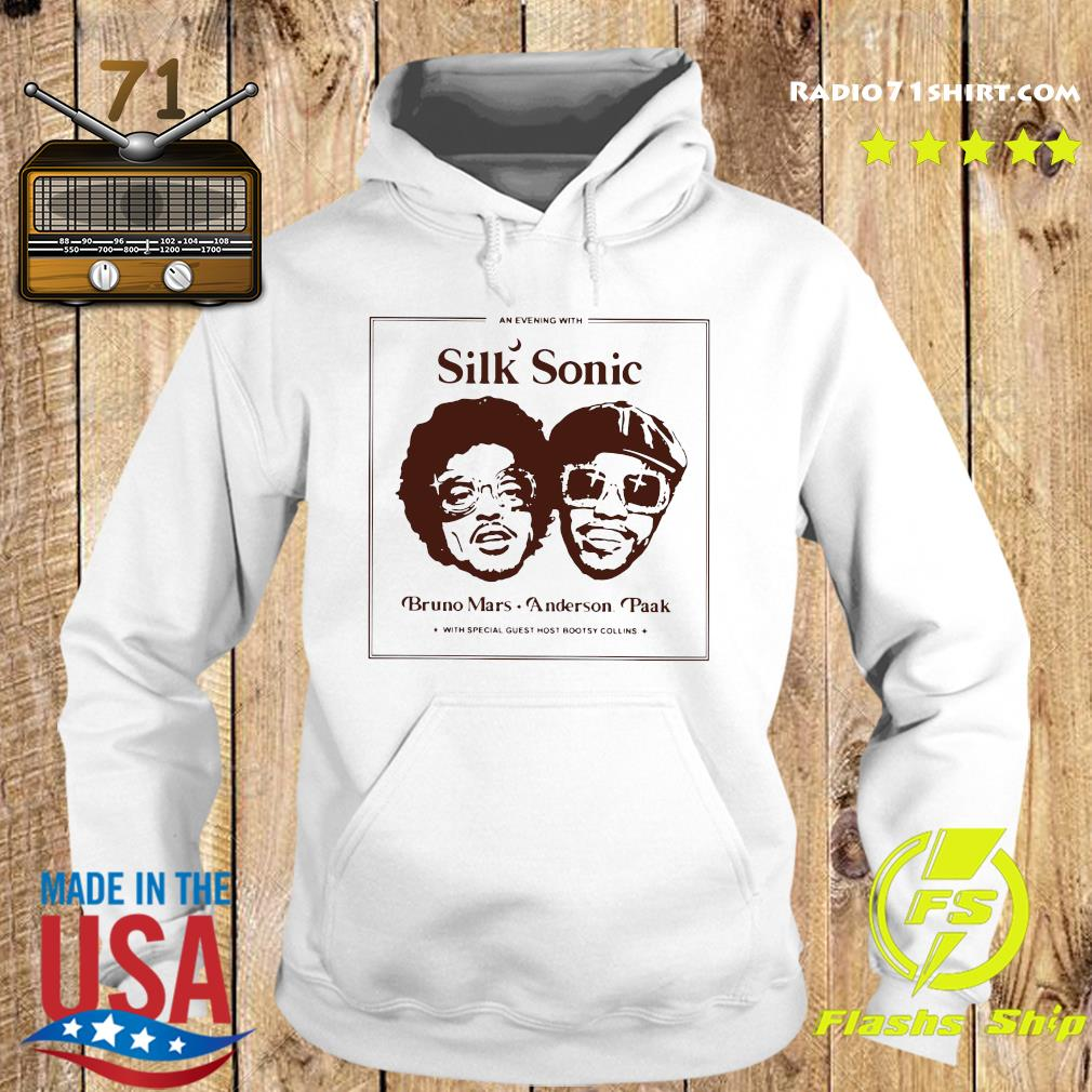 Official An Evening With Silk Sonic Bruno Mars Anderson Paak Shirt Hoodie