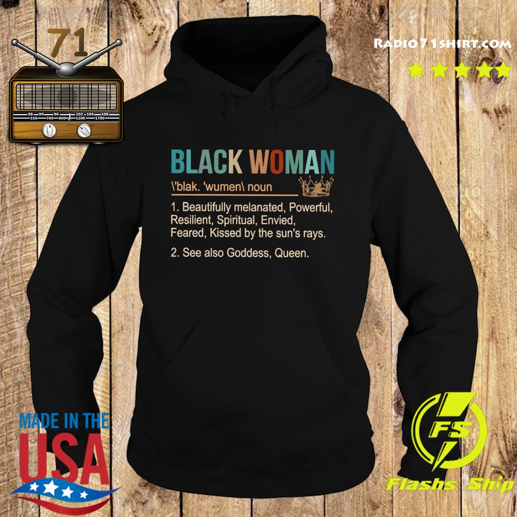 Official Black Woman With Blak Wumen Shirt Hoodie