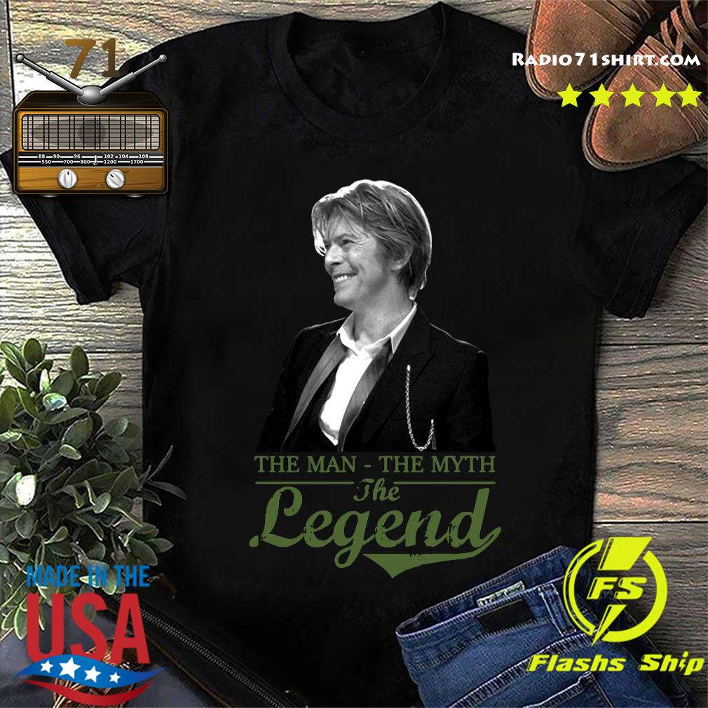 Official David Bowie's The Man The Myth And The Legend Shirt