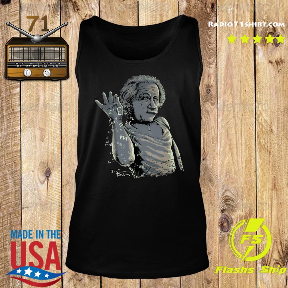 Albert Einstein Salt Bae Shirt Tank top