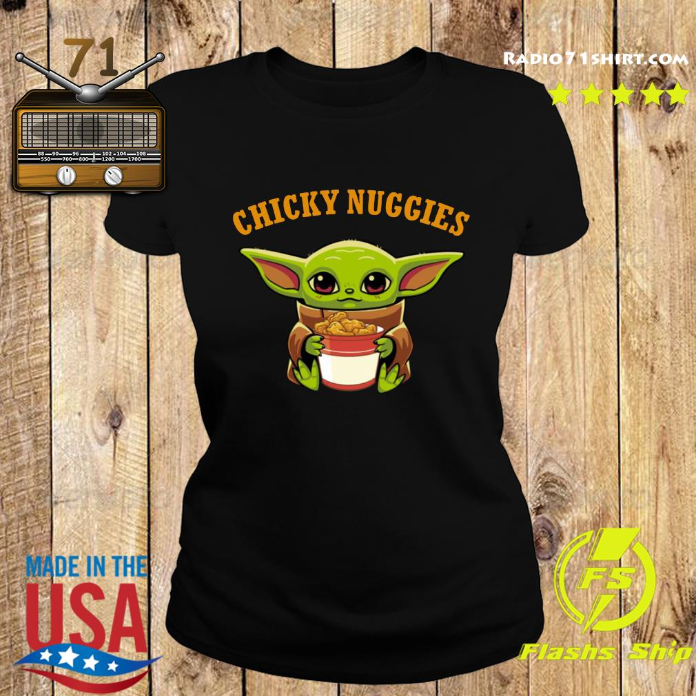 Baby Yoda chicky nuggies s Ladies tee