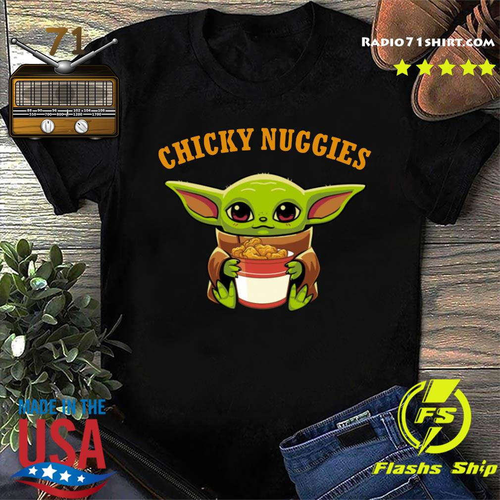 Baby Yoda chicky nuggies shirt