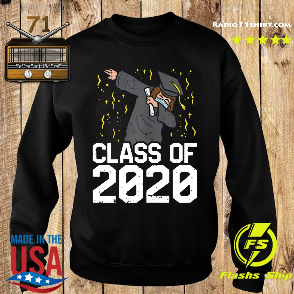 Dabbing Graduate Class Of 2020 Funny Social Distancing Shirt Sweater