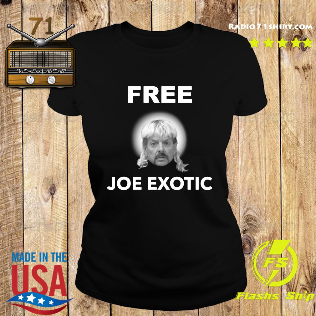 Free Joe Exotic Face Shirt Ladies tee