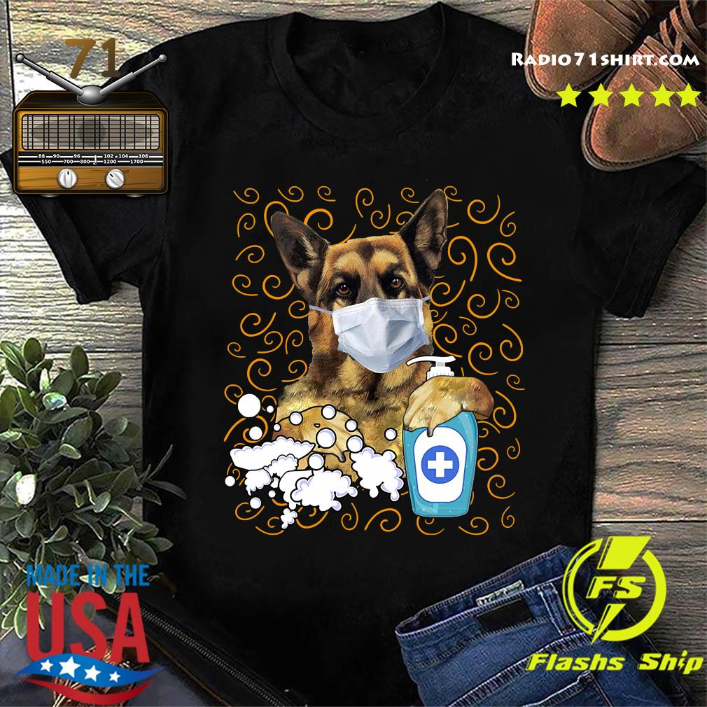 German Shepherd face mask shirt