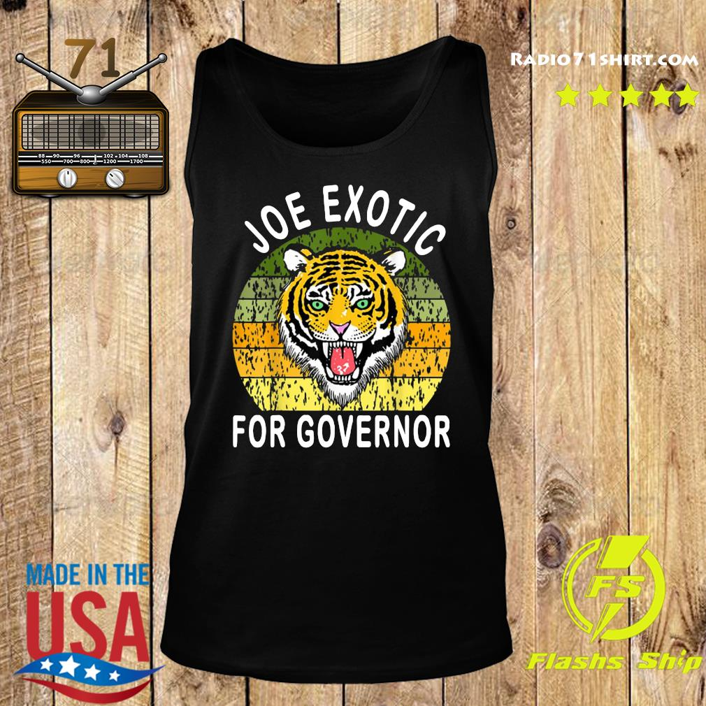Joe Exotic For Governor Vintage Shirt Tank top