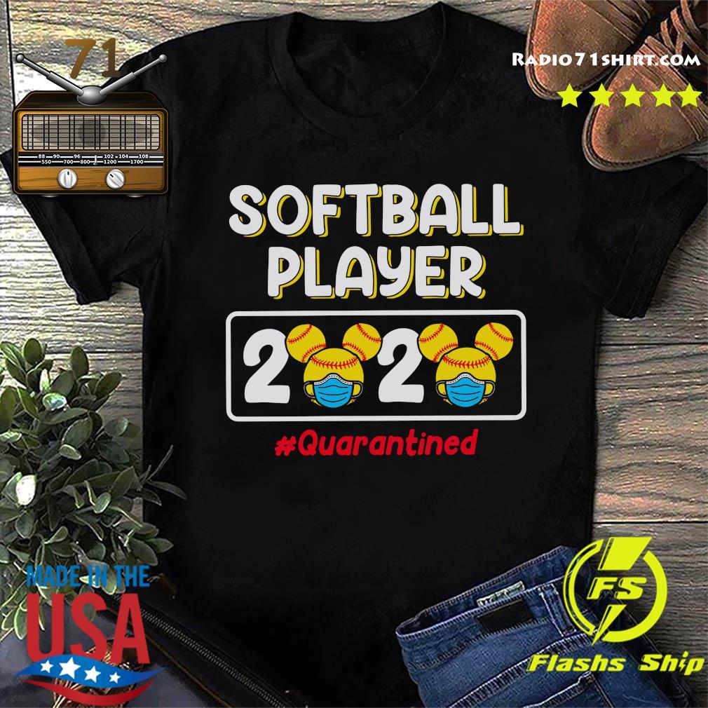 Mickey Softball player 2020 Quarantined shirt