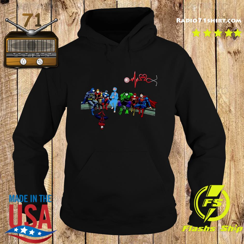Nurse And Superheroes And That's How I Saved The World Shirt Hoodie