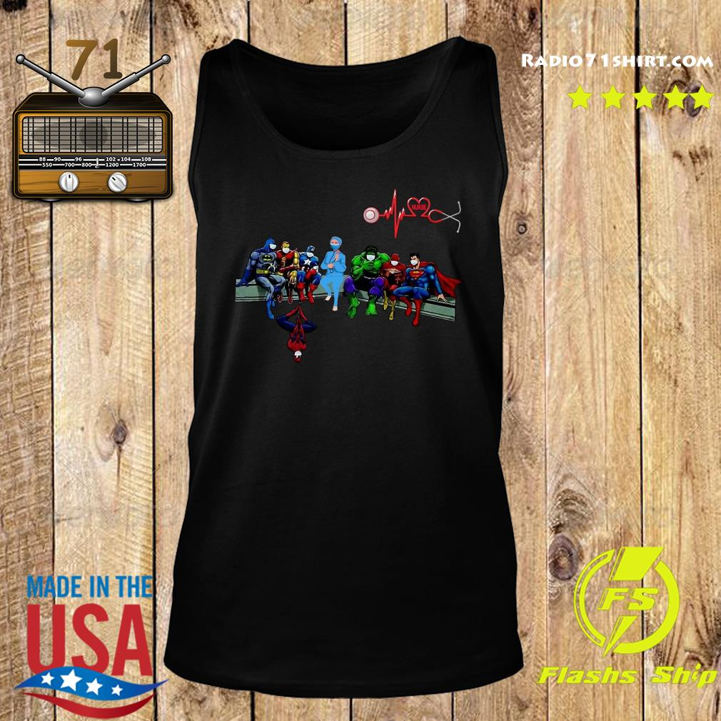 Nurse And Superheroes And That's How I Saved The World Shirt Tank top