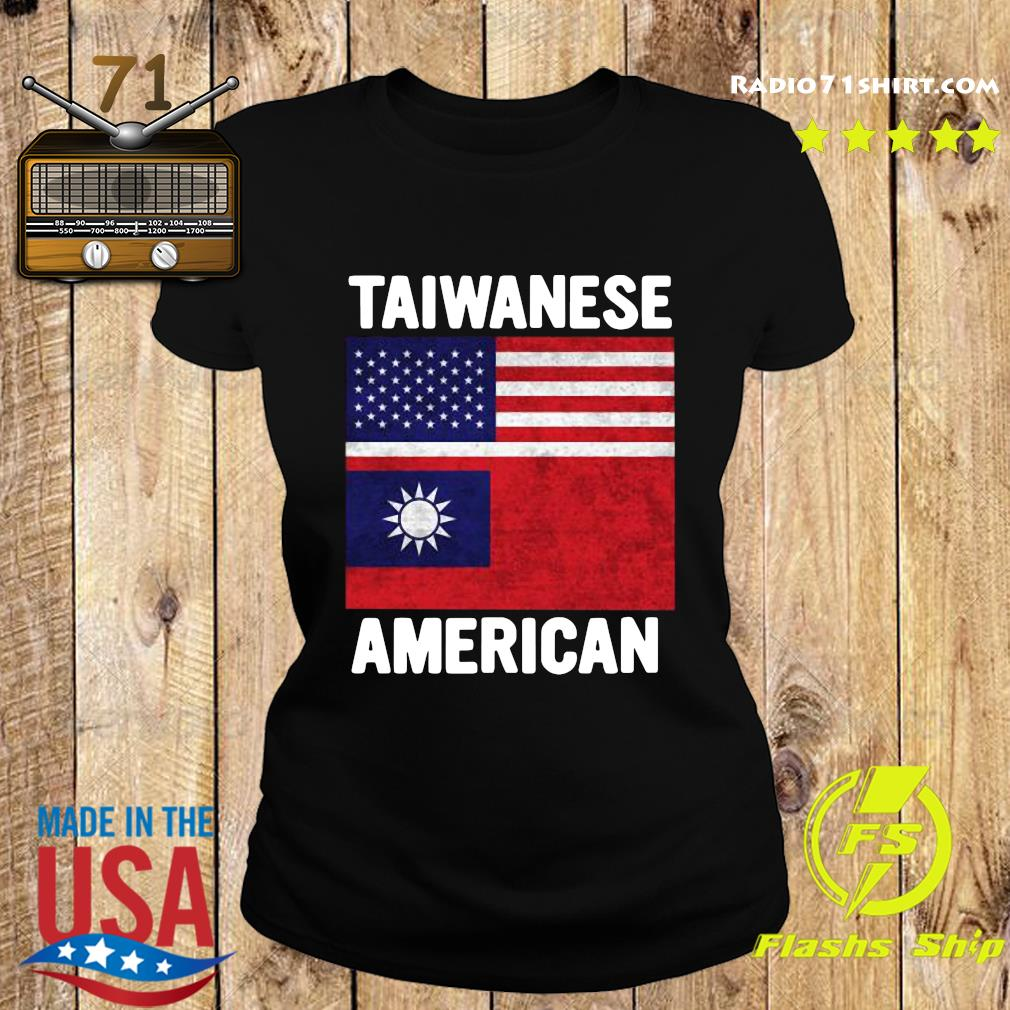 Taiwanese American 2020 Taiwan USA Flag Shirt Ladies tee