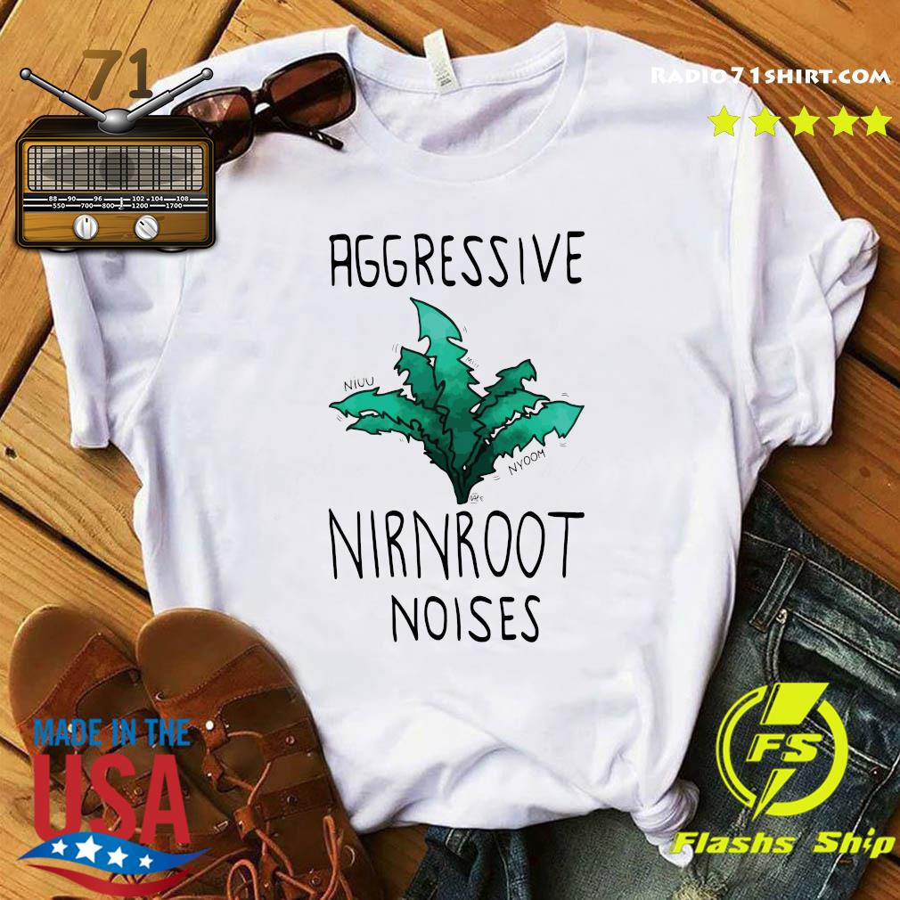 Aggressive Nirnroot Noises Fitted Scoop T-Shirt