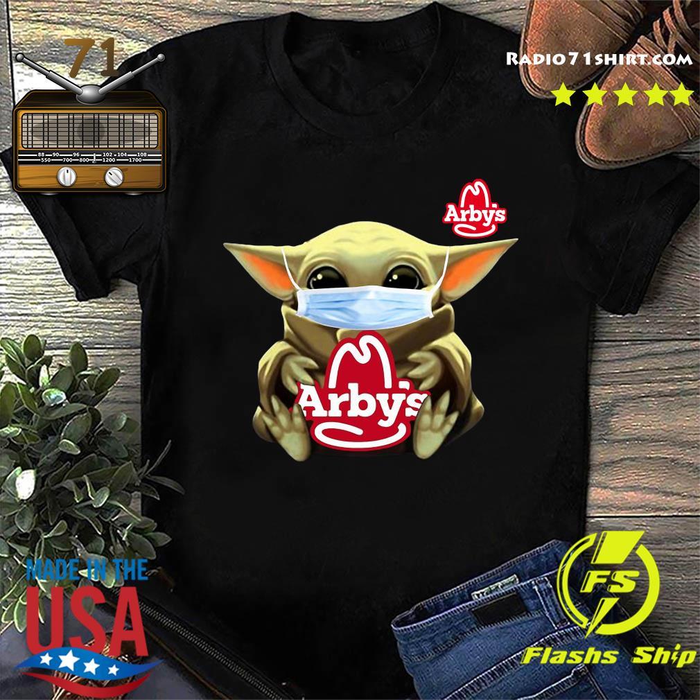 Baby Yoda Face Mask Hug Arbys Shirt